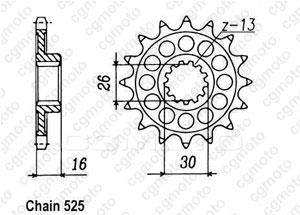 Pignon Rc30 Vfr 750 R 89-92