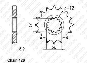 Pignon Minarelli 50 99-07 420