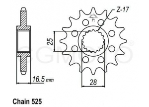 Pignon KTM 1290
