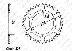 Couronne Tdr 125 Italie 89-92
