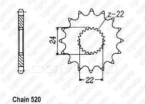 Kit chaine Aprilia Mx 125 Sm