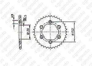 Kit chaine Aprilia 450/550 Rxv
