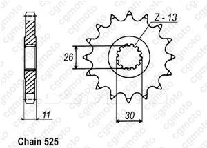 Kit chaine Yamaha MT-07