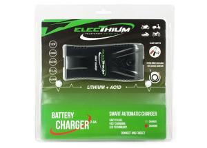 Electhium Chargeur Batterie Moto et Scooter