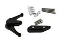 Kit Protection de Carters CNC Anodisés Noir R1 2009-2014 Gauche et Droit -Tampon Teflon